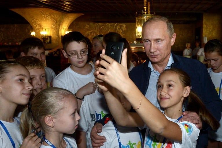Putin y los niños