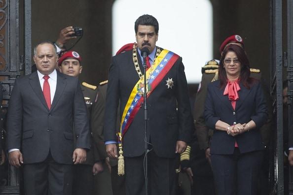 Diosdado Cabello, Nicolás Maduro y Cilia Flores