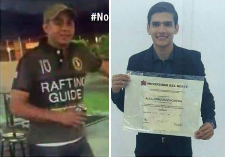 Hombre asesinado en Bogotá (Izq.) y Alejandro Ruíz Noriega, abogado asesinado en Barranquilla