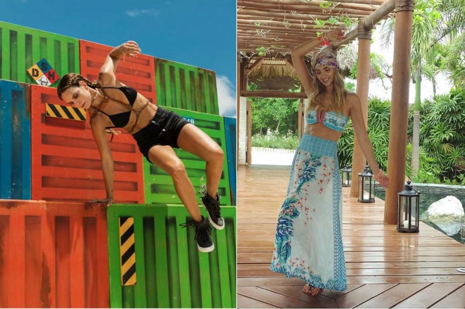 Catalina Aristizábal y Melina Ramírez presentadoras del 'Desafío Súper Humanos Cap Cana'.