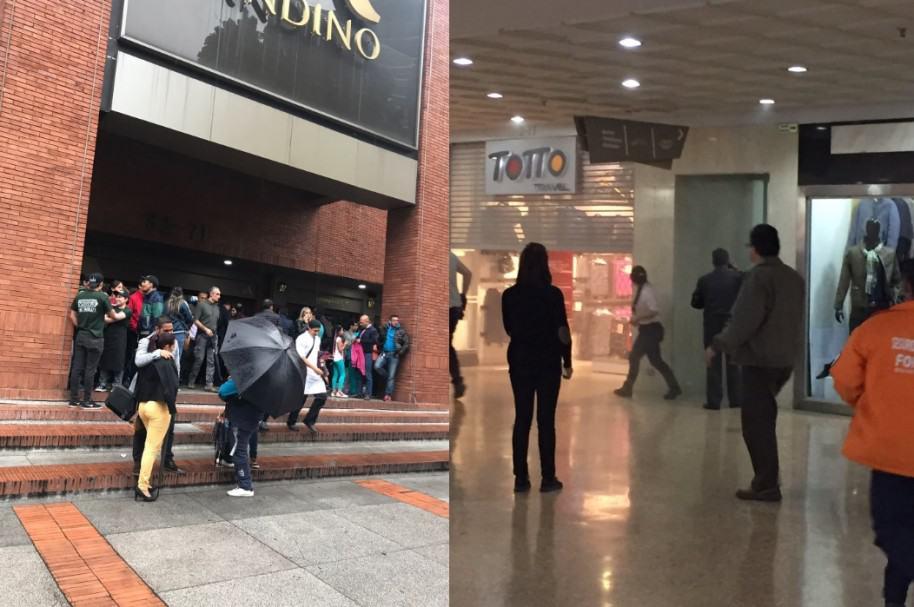 Explosión en Centro Comercial Andino