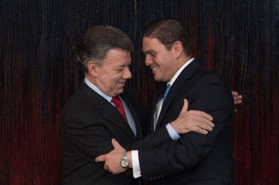 Juan Manuel Santos y Juan Carlos Pinzón