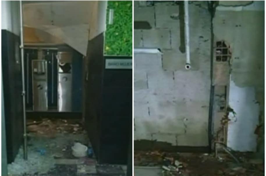 Fotos de baño de Andino luego de explosión.