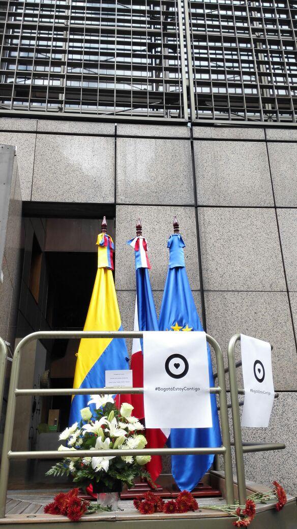 Homenaje en la Embajada de Francia en Colombia