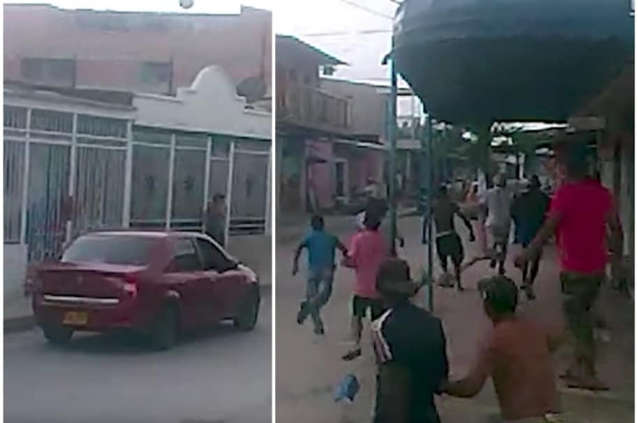 Comunidad persigue a la policía.