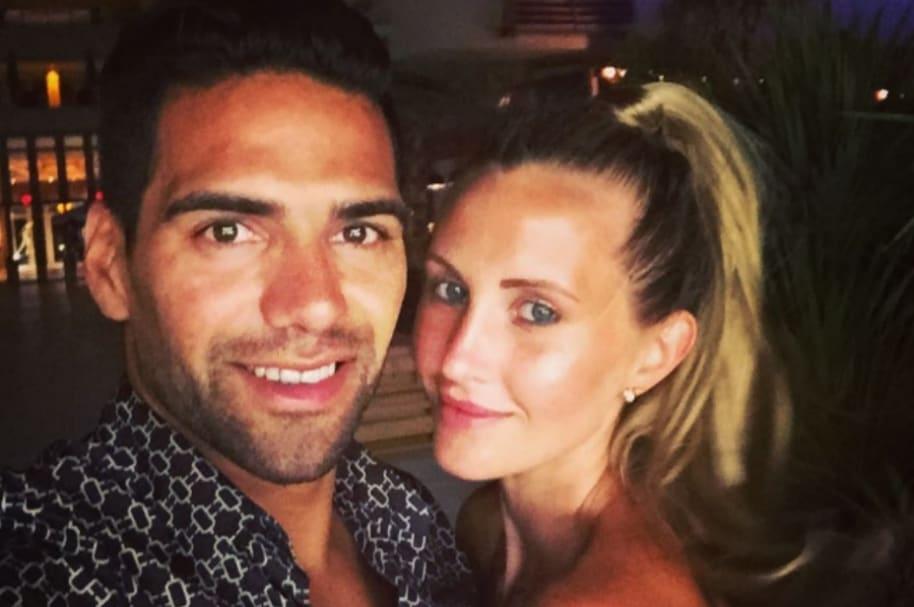 Radamel Falcao y su esposa, Lorelei Tarón.
