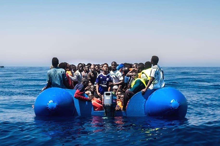 Migrantes en Mediterráneo