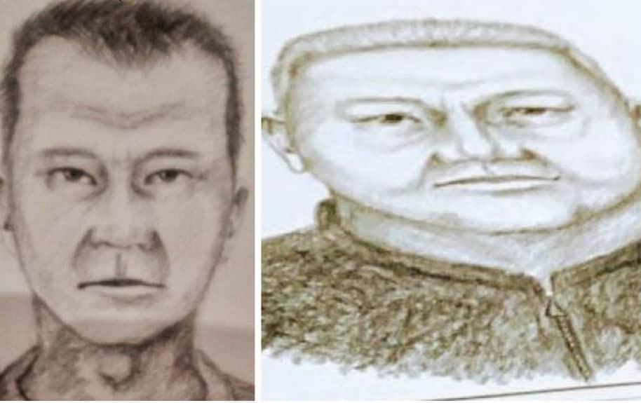 Retratos de sospechosos en atentado terrorista de Andino