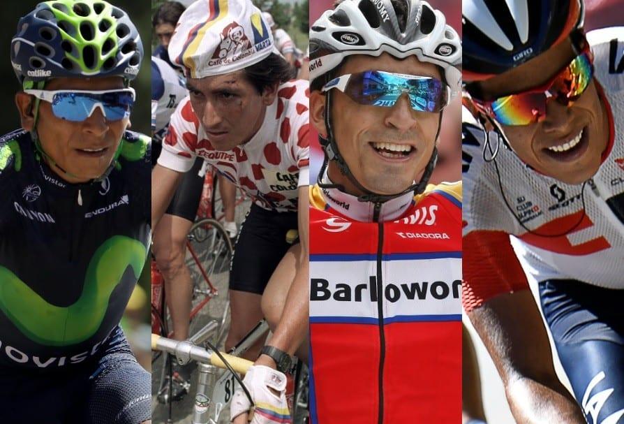 Nairo Quintana, 'Lucho' Herrera, Mauricio Soler y Járlinson Pantano