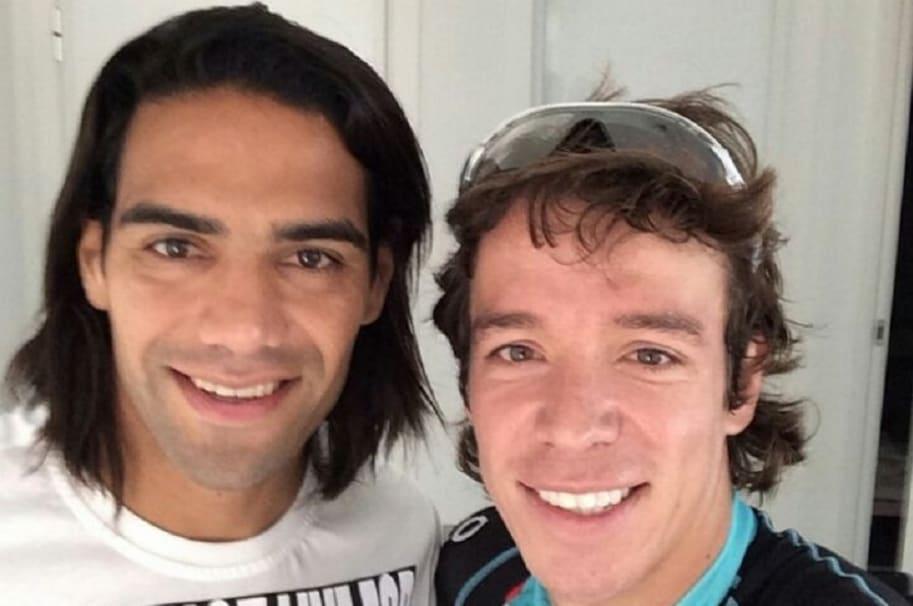 Falcao y Rigoberto Urán
