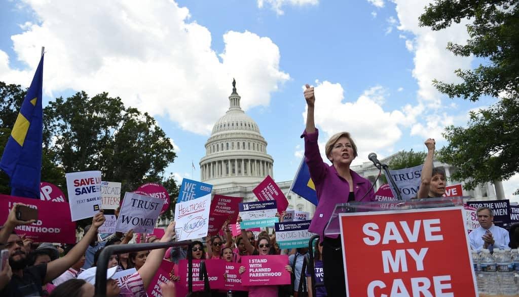 Manifestación a favor del 'Obamacare'