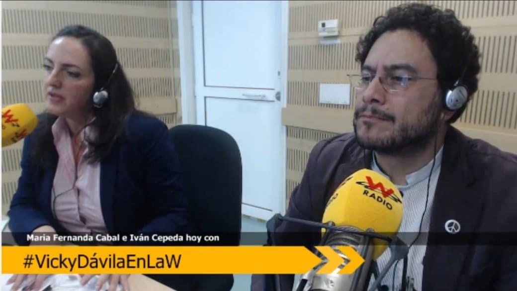 María Fernanda Cabal e Iván Cepeda