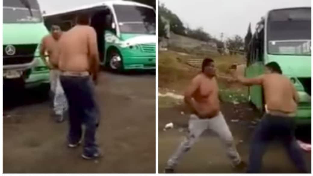 Pelea entre conductores de bus en Ciudad de México