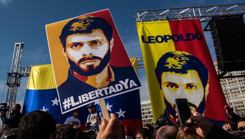 Manifestación por la liberación de Leopoldo López
