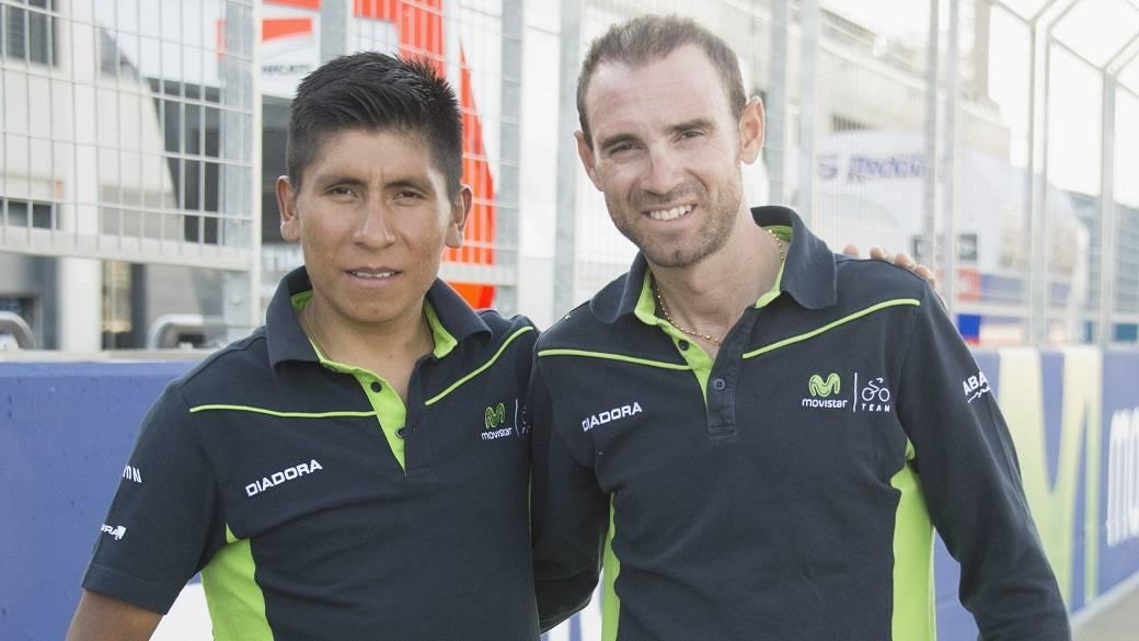 Nairo y Valverde