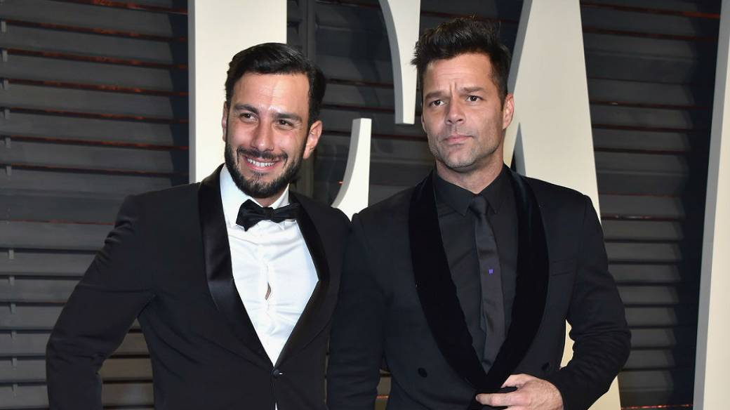 El artista Jwan Yosef y su novio, el cantante Ricky Martin.