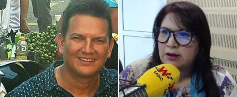 Juan Carlos Quiroga, periodista, y Yidis Medina, excongresista.