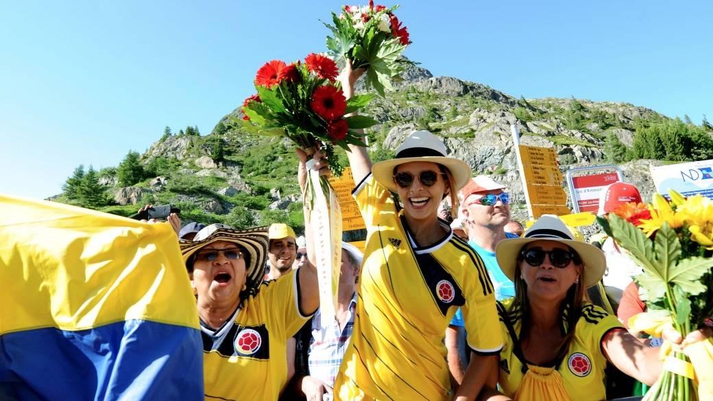 Aficionados de Colombia en el Tour de Francia