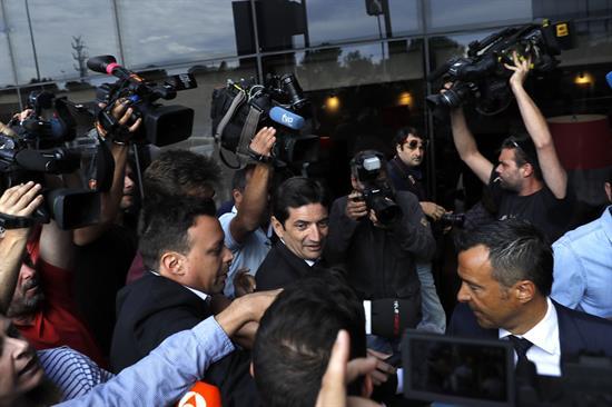 Jorge Mendes a su llegada al juzgado