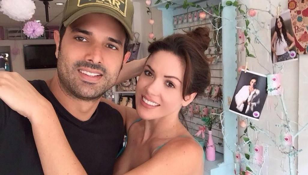 Alejandro Estrada y su esposa Nataly Umaña, actores.