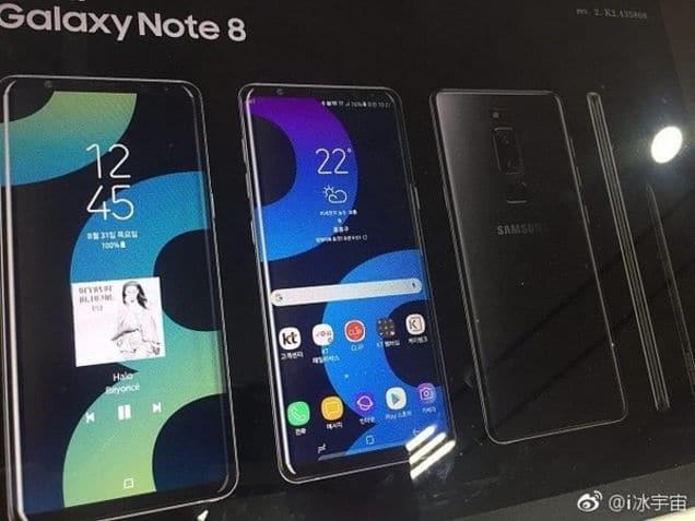 Filtración Galaxy Note 8