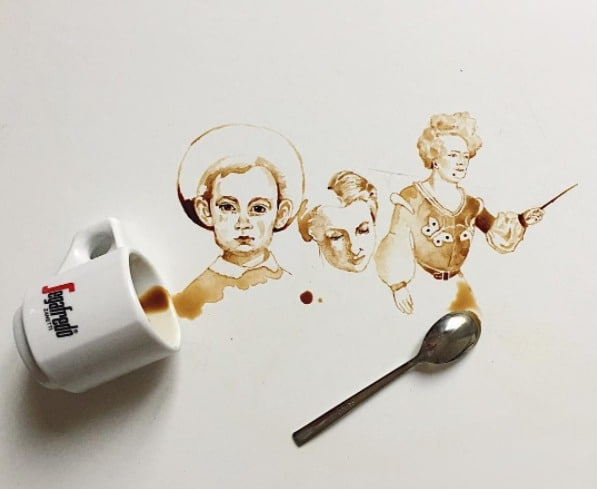 Arte con café. Pulzo.com