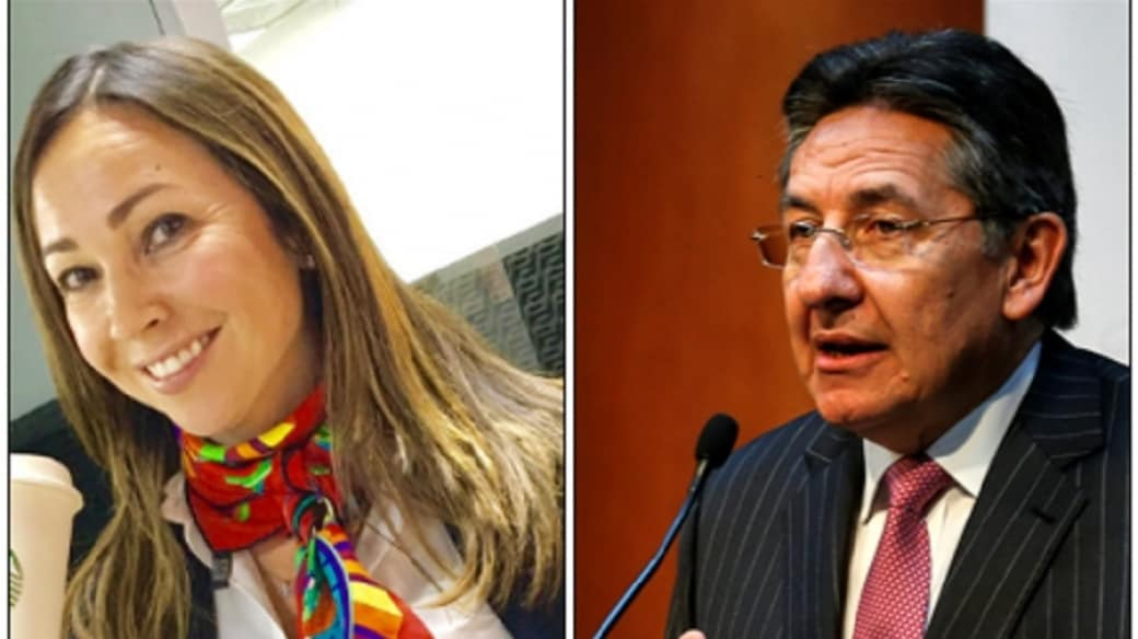 Darcy Quinn y Néstor Humberto Martínez