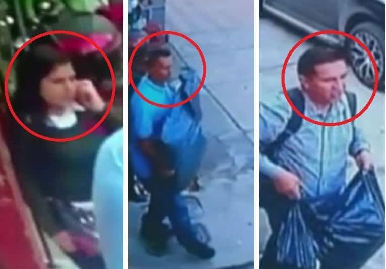Tres de los delincuentes quedaron grabados cuando cometían un robo