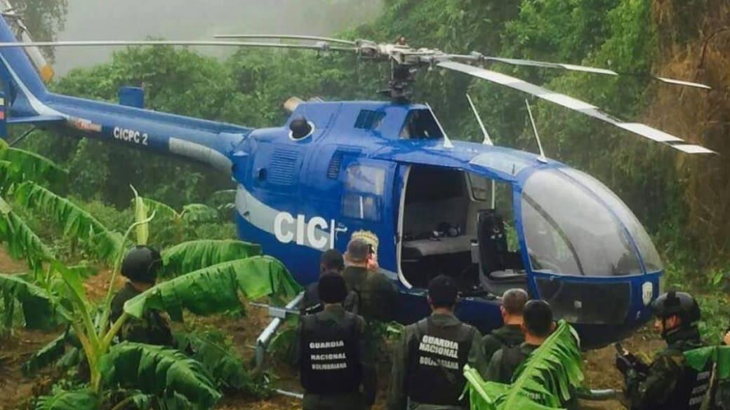 Helicóptero hallado en Venezuela
