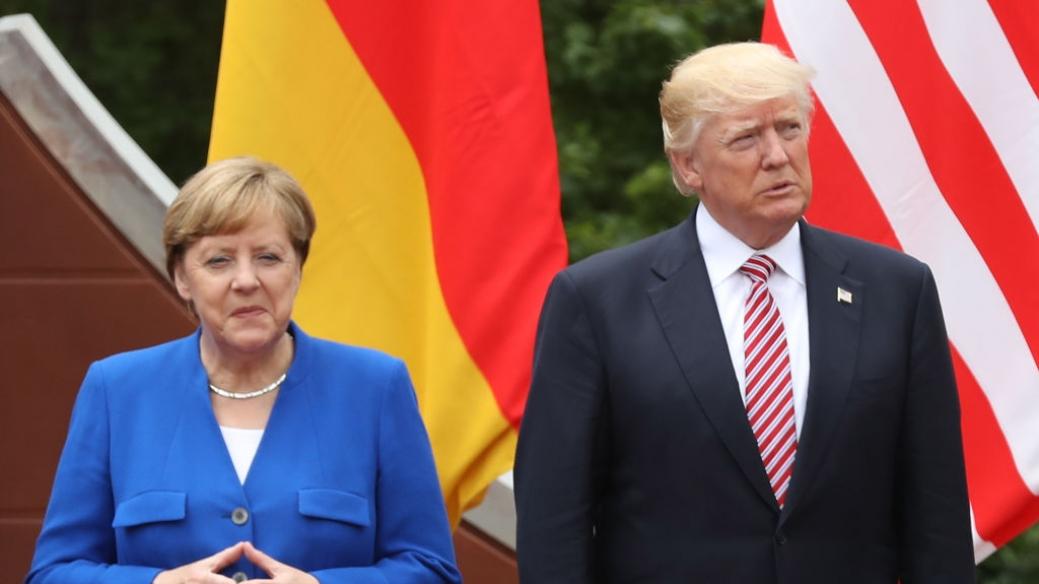 Merkel y Trump