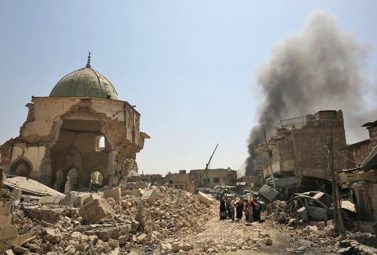 Mezquita destruida en Mosil
