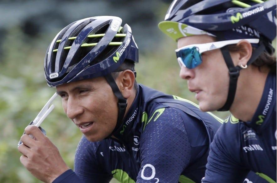 Nairo Quintana y Carlos Betancur