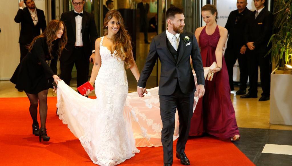 Lionel Messi y Antonela Rocuzzo