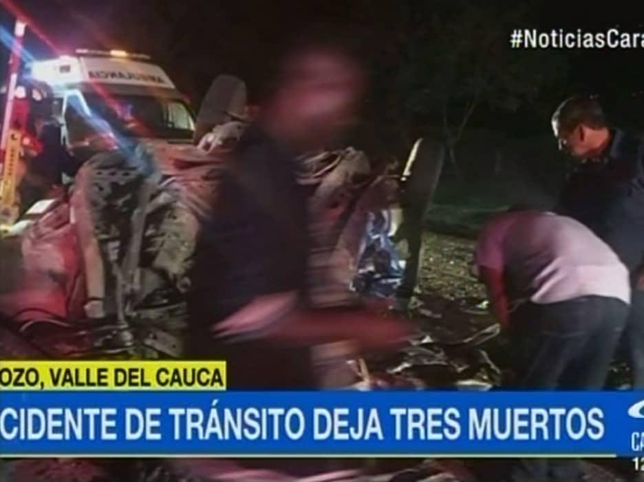 Accidente de tránsito en zona rural de Palmira, Valle. Pulzo.com
