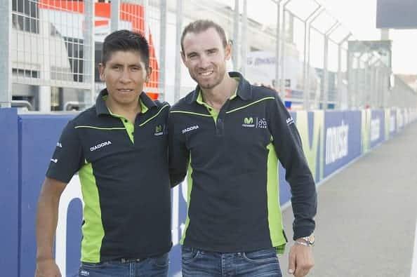 Nairo Quintana y Alejandro Valverde