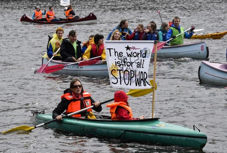 Protesta contra el G20 en Hamburgo