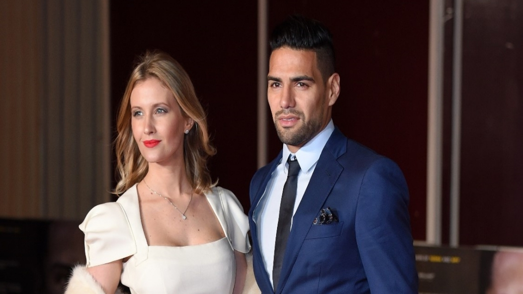 Falcao y la esposa