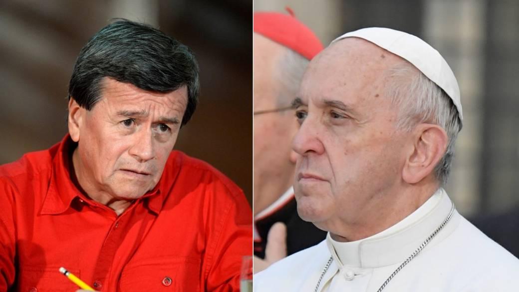 Pablo Beltrán y papa Francisco