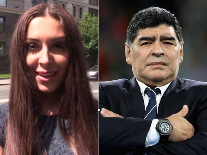 Periodista rusa y Maradona
