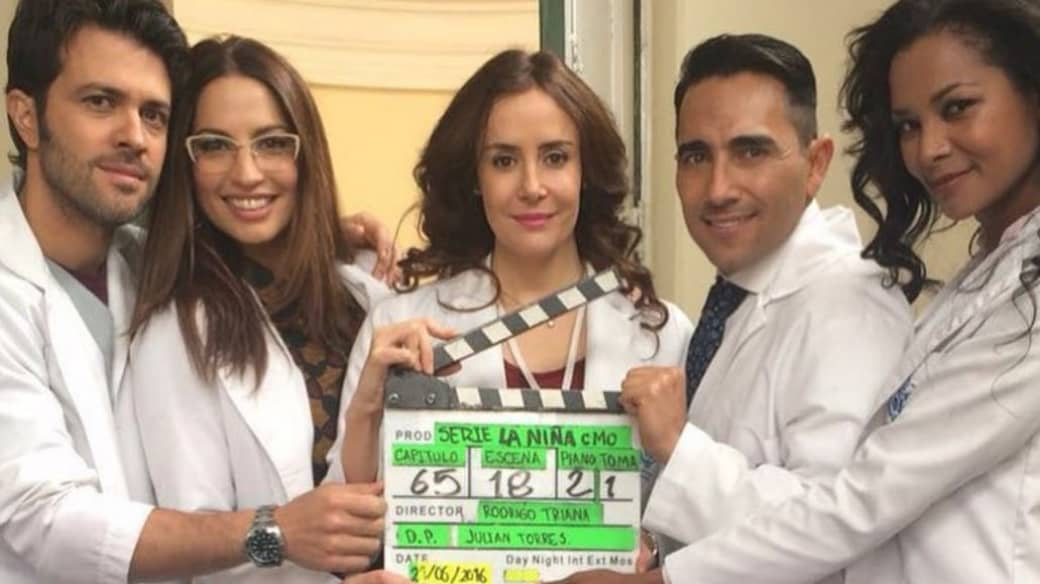 Juan Manuel Mendoza, Laura Ramos, Cristina Campuzano, Fabián Mendoza y Brenda Hans, actores de 'La niña'.