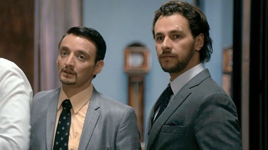 Juan Pablo Barragán e Iván López, actores.