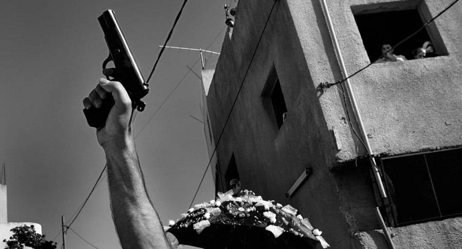 Tiros al aire en boda palestina.