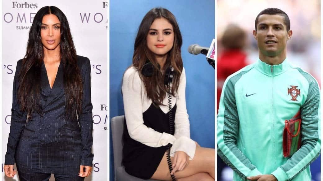 Kim Kardashian / Selena Gomez / Cristiano Ronaldo