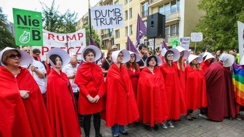 Protestas contra Trump en Varsovia
