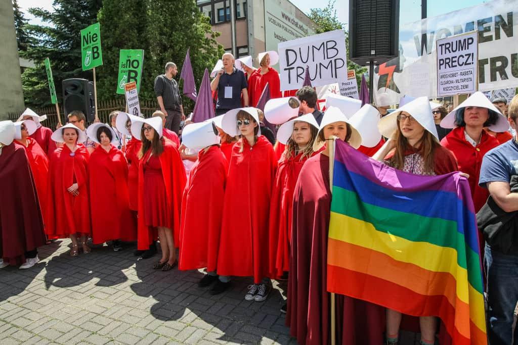 Protestas en Varsovia contra Trump