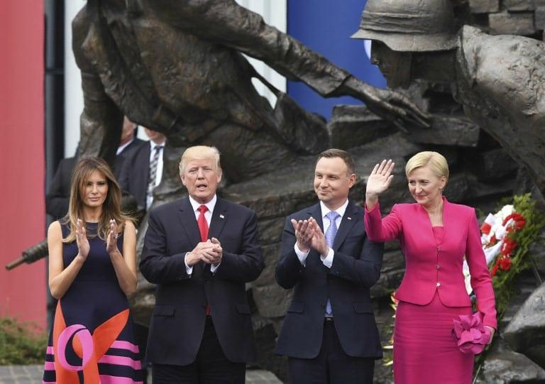 Donald Trump, Melania Trump, Andrzej Duda y  Agata Kornhauser-Duda. Pulzo.com