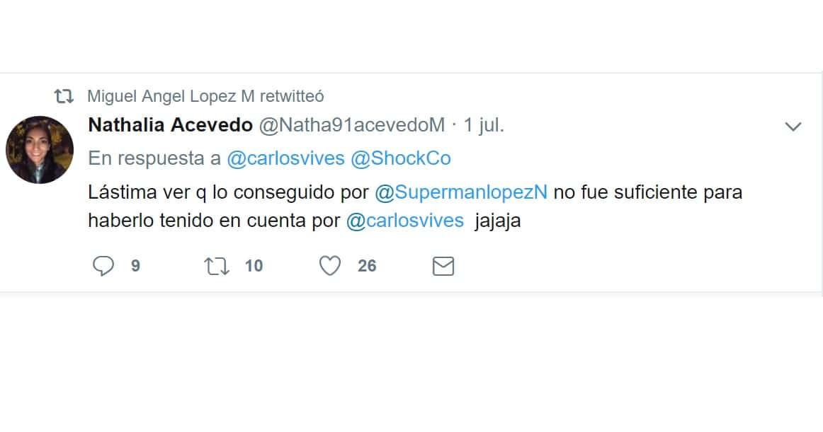 Tuit de 'Supermán' López