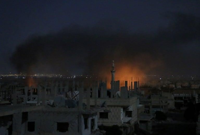 Bombardeo en Daraa, Siria. Pulzo.com