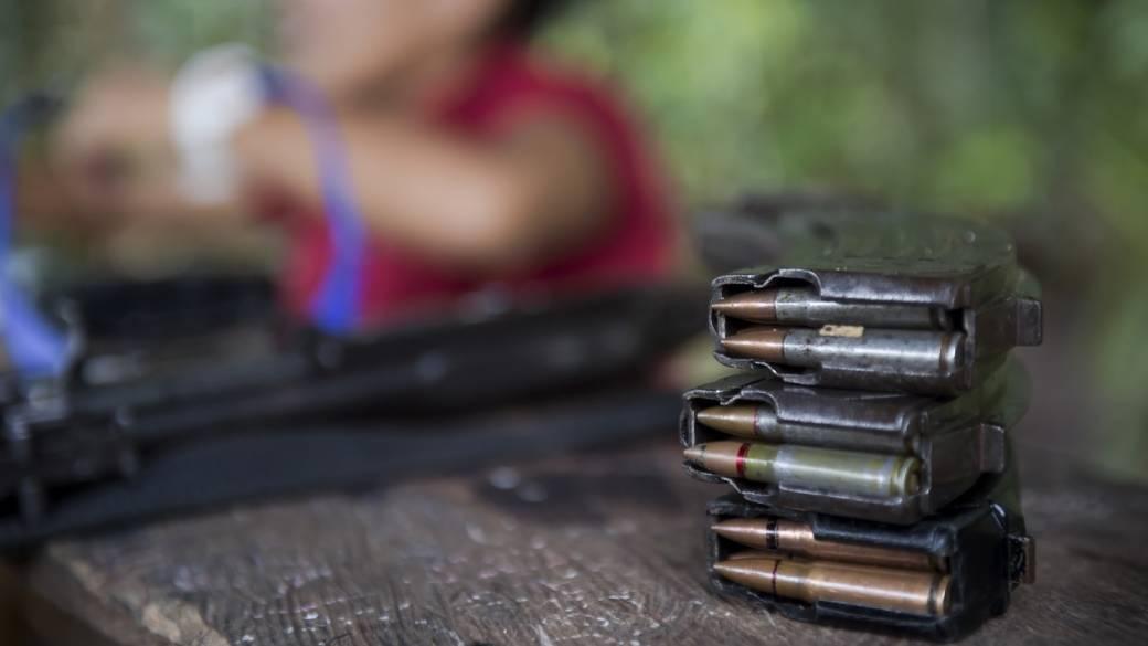Algunas municiones de las Farc que ya fueron entregadas