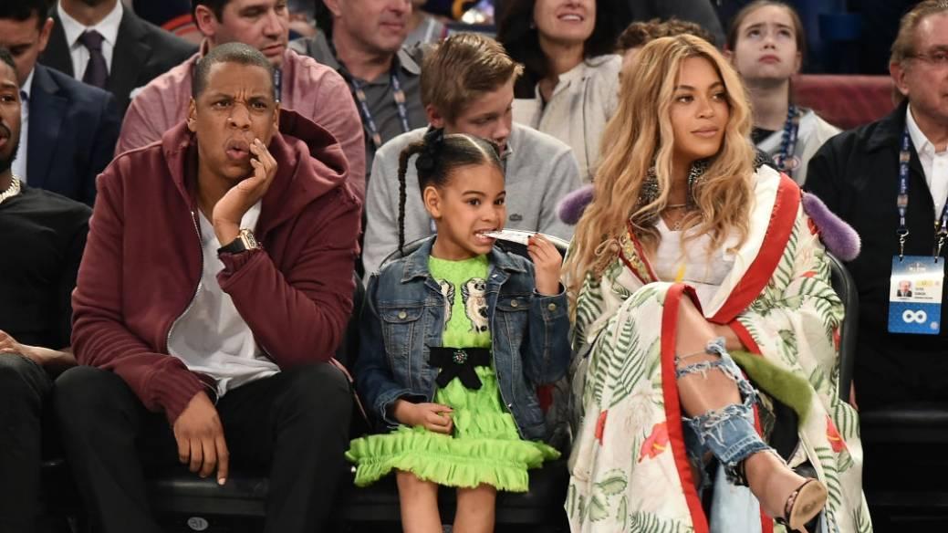 Jay Z, Blue Ivy Carter y Beyoncé Knowles